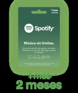 promoción Spotify 2x1