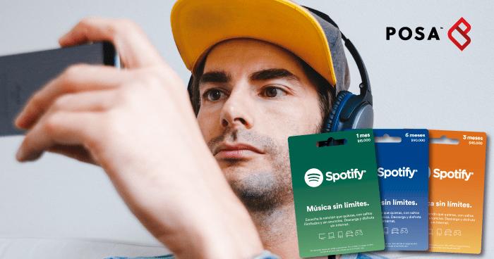 tarjetas Spotify regalo día del padre Colombia