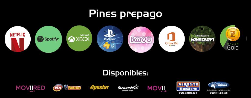 Pines prepago en Colombia